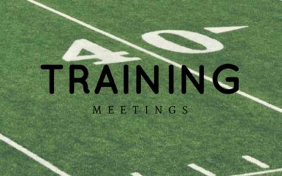2018 Training Meetings