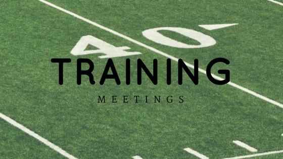 2017 Training Meetings
